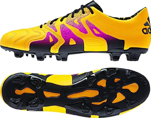 adidas X 15.1 Leather Mens Soccer Shoe – Gold – 8 Soccer Outdoor Shoes