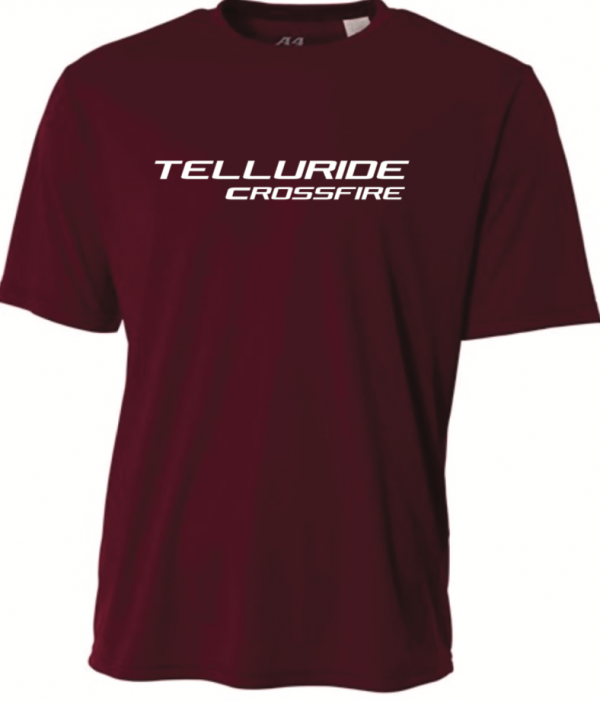 Telluride Crossfire A4 SS Tee – Maroon – YM INDIVIDUALS