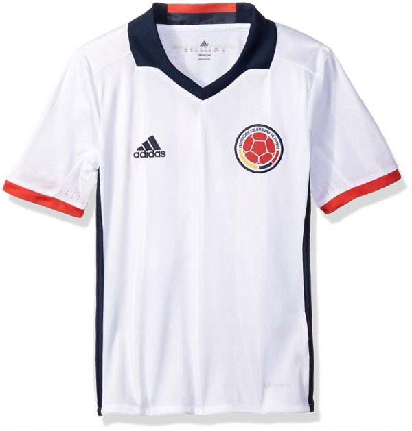 adidas Columbia Youth Soccer Jersey – White – YL Soccer Replica Jerseys